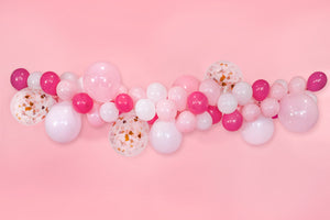 Baby Shower Decorations for Girl - It's a Girl - Balloon Garland Kit with Rose Gold Baby Script Balloon and Hand Pump (Pink)