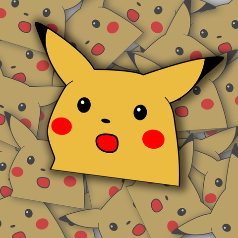 Surprised Pika Sticker
