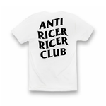 """Anti Ricer Ricer Club"" Tee - White"