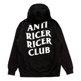 Anti Ricer Ricer Club Hoodie - Black