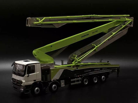 1:38 ZOOMLION 64X-6RZ Carbon fiber boom 64m Construction machinery concrete pump model
