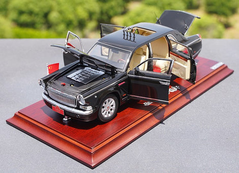 Original factory 1:24 Century Dragon Hongqi CA7600J 70th Aniversary diecast Parade alloy car model for gift,collection