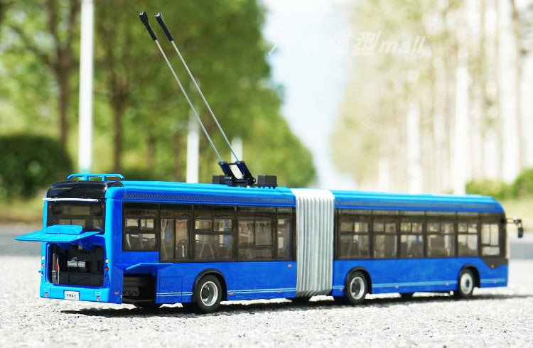 Original factory authentic Yutong 1:42 Yutong ZK5180C BRT diecast Trolley BRT scale bus  model for gift