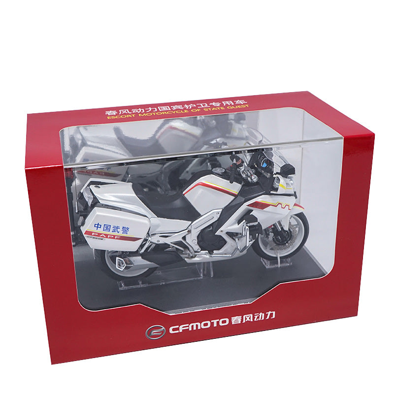 1:10 Motorcycle Model, Original CFMOTO CF650C G20 escort motorcycle of state guest model