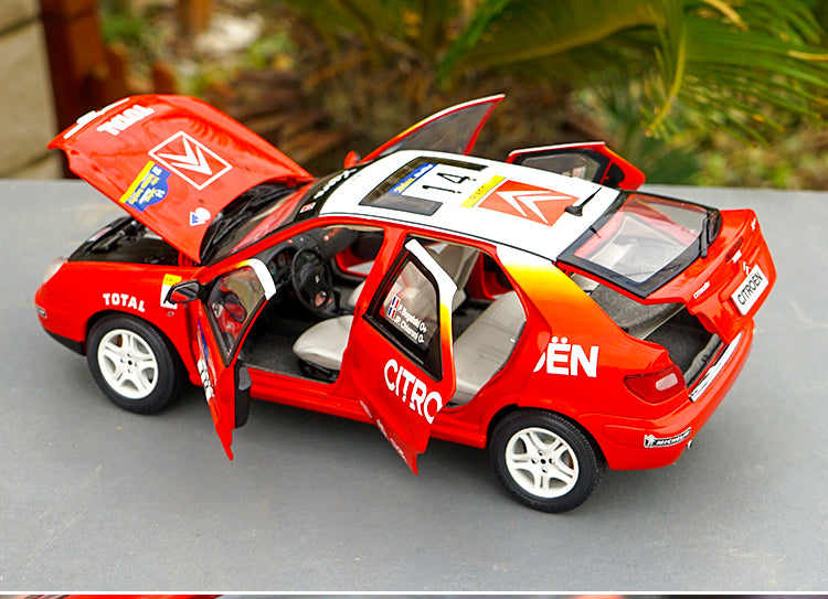 1/18 CITROEN Senna WRC monte carlo Picasso Diecast Rally Car Model with small gift