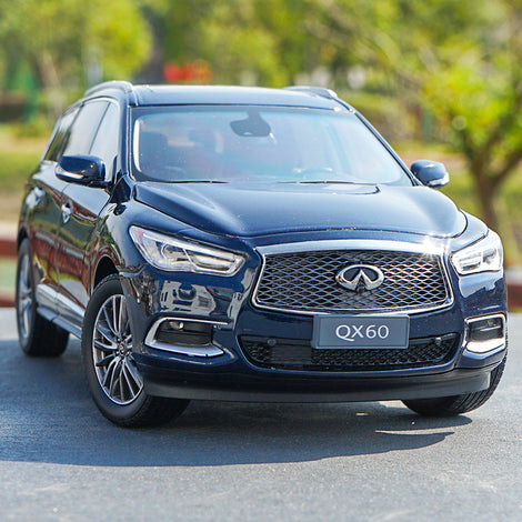 1:18 Scale Infiniti QX60 SUV 2017 Metal Diecast Car Model Decoration Dark Blue with small gift