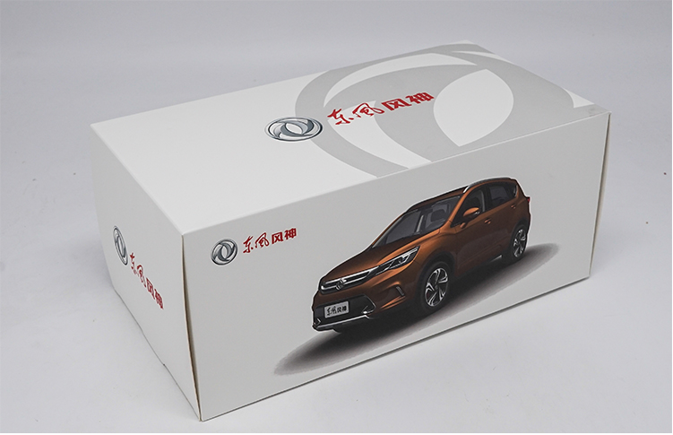 Original factory authentic 1/18 Dong Feng Aeolus AX5 diecast metal SUV car model with small gift