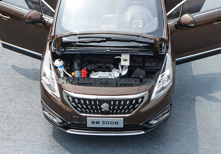 Original factory authentic 1:18 Dongfeng Peugeot New 3008 2016 version alloy vehicle diecast car models with small gift