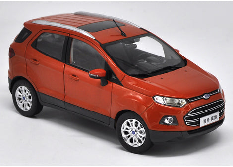 Original factory authentic 1:18 Ford ECOSPORT SUV diecast car model with small gift