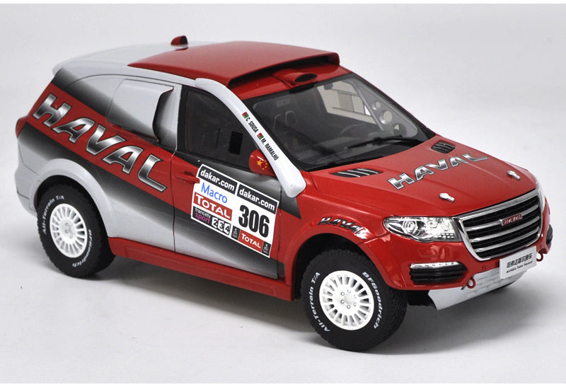 Original factory authentic 1:18 HAVAL racing car model Dakar rally car SUV diecast car model with small gift
