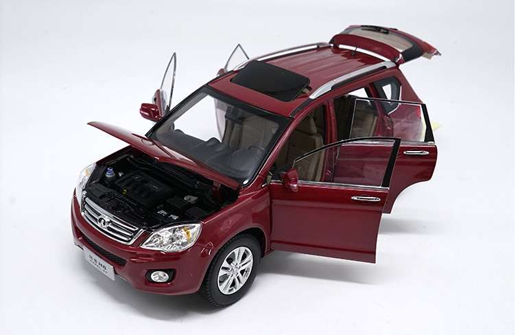 Original factory authentic 1:18 Haval H6 diecast metal SUV car model with small gift