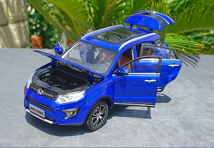 Original factory authentic 1:18 JMC Yusheng S330 suv diecast car model with small gift