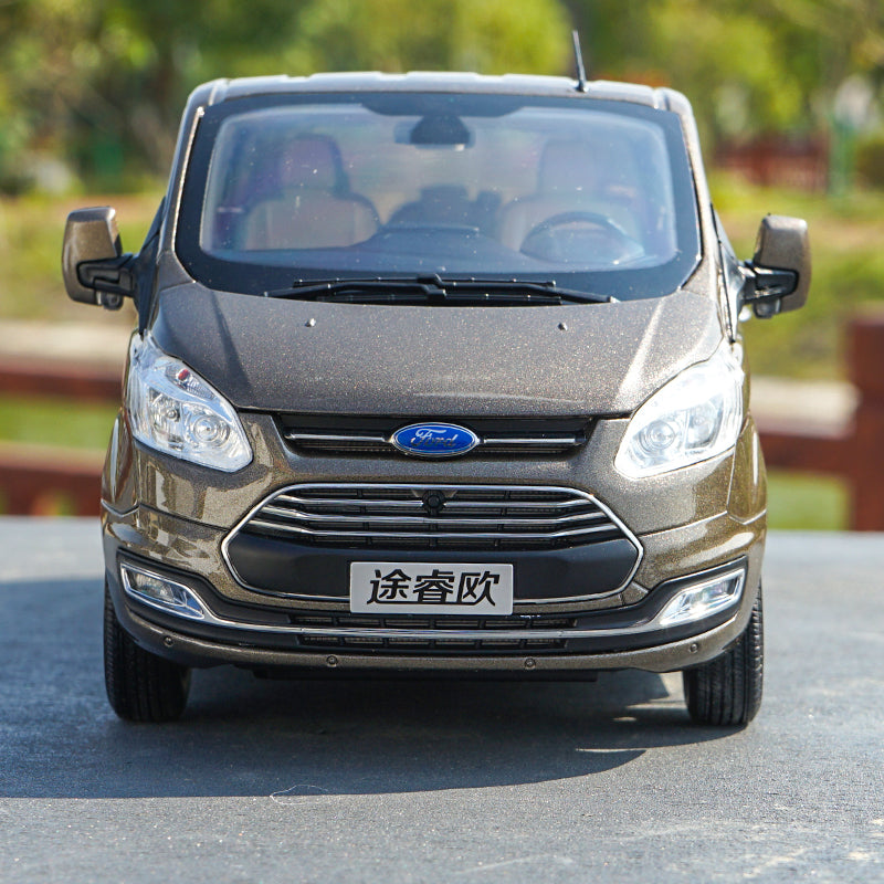 1/18 Jiangling JMC ford dealer version car model Ford Tourneo alloy car model with small gift