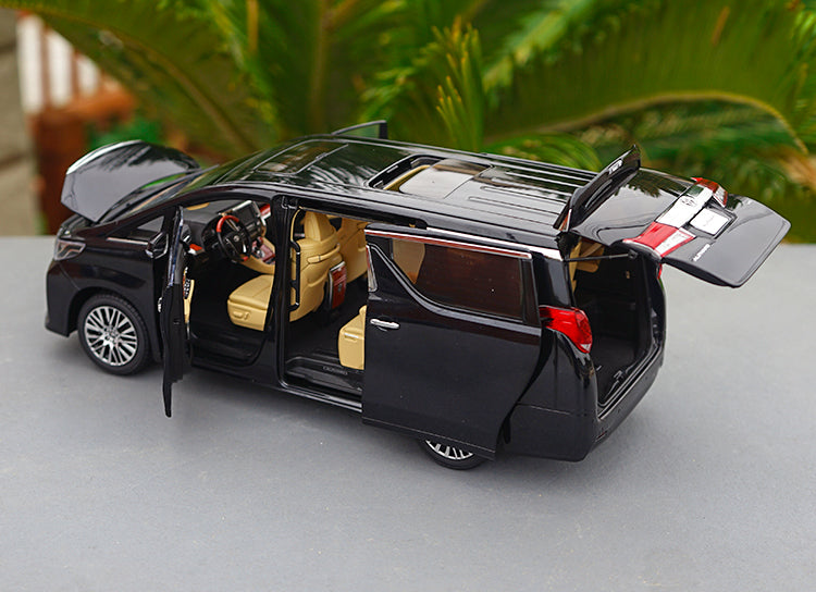 1:18 Keng Fai Toyota Alphard Black/white LEFT/ Right drive export version MPV 1/18 model car