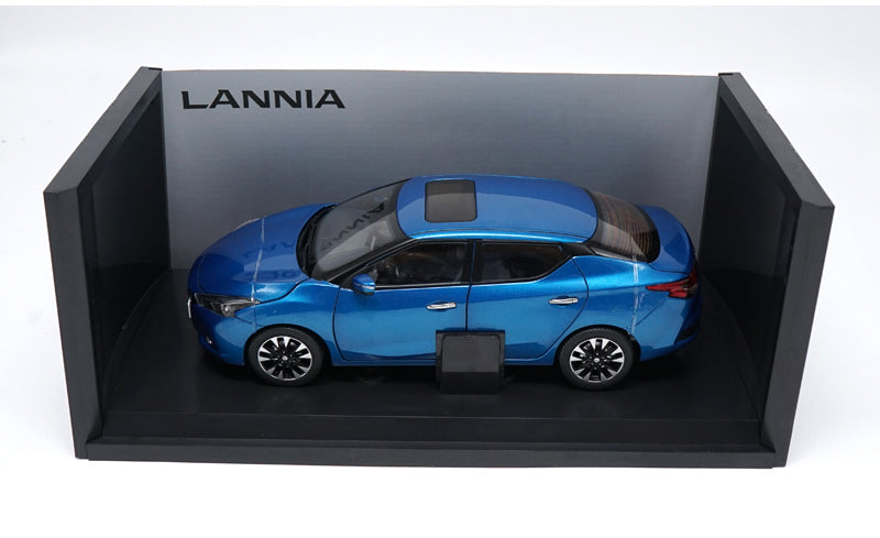 Original factory authentic 1:18 NISSAN LANNIA 2015 version diecast car model with small gift