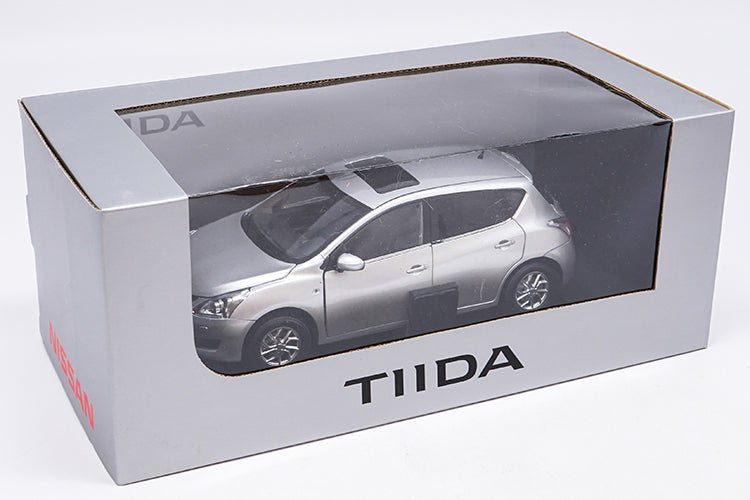 Original factory authentic 1/18 NISSAN NEW TIIDA diecast metal car model with small gift
