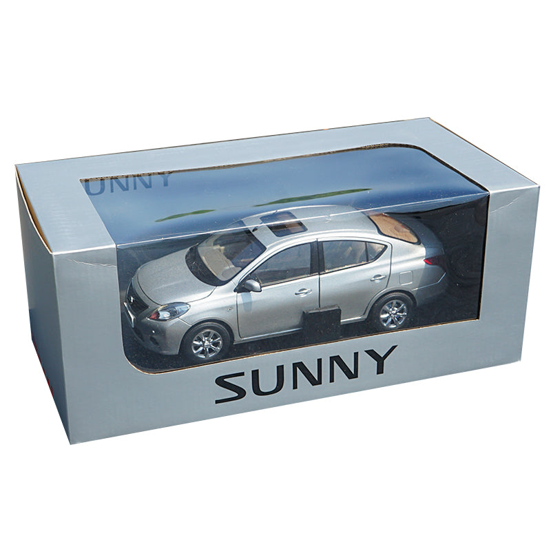 Original factory authentic Minichamps 1:18 Nissan Sunny diecast car model with small gift