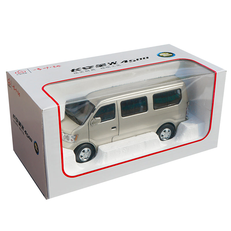1:18 Scale Diecast Champagne Changan 4500 Van car Model with small gift