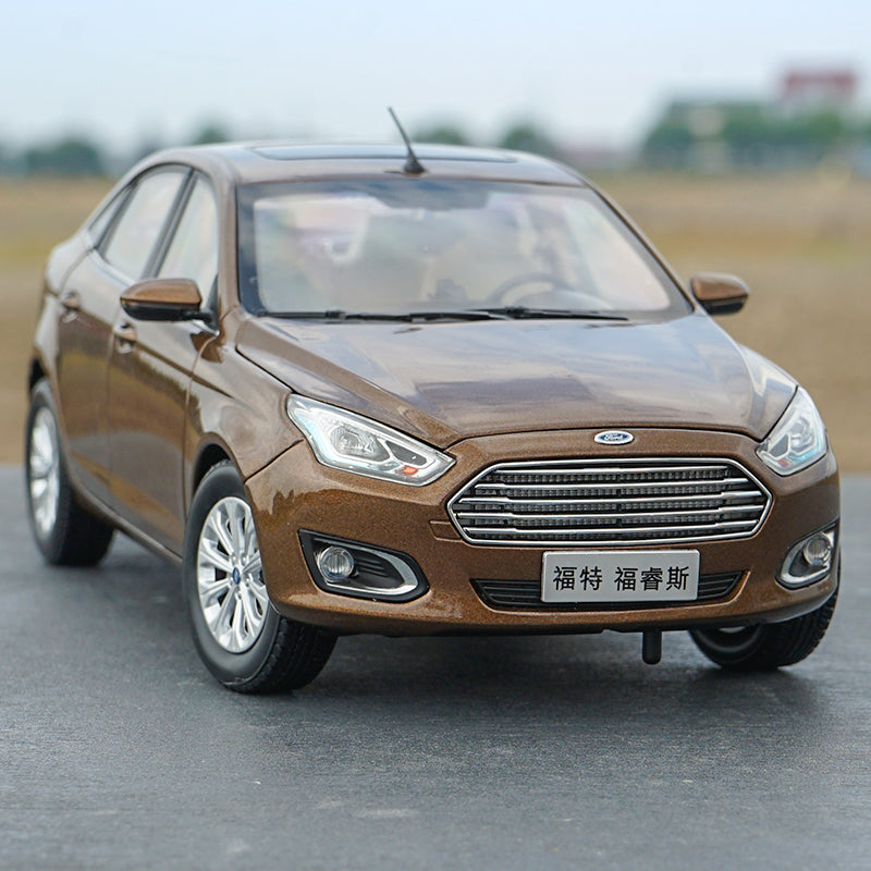 1 18 Scale Ford Escort 2017 Brown Diecast Car Model With Small Gift Mega Model Wholesale Store