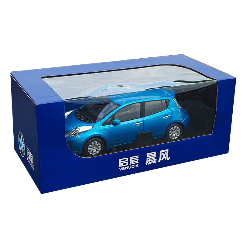 Original factory authentic 1:18 VENUCIA E30 Leaf new energy diecast car model with small gift
