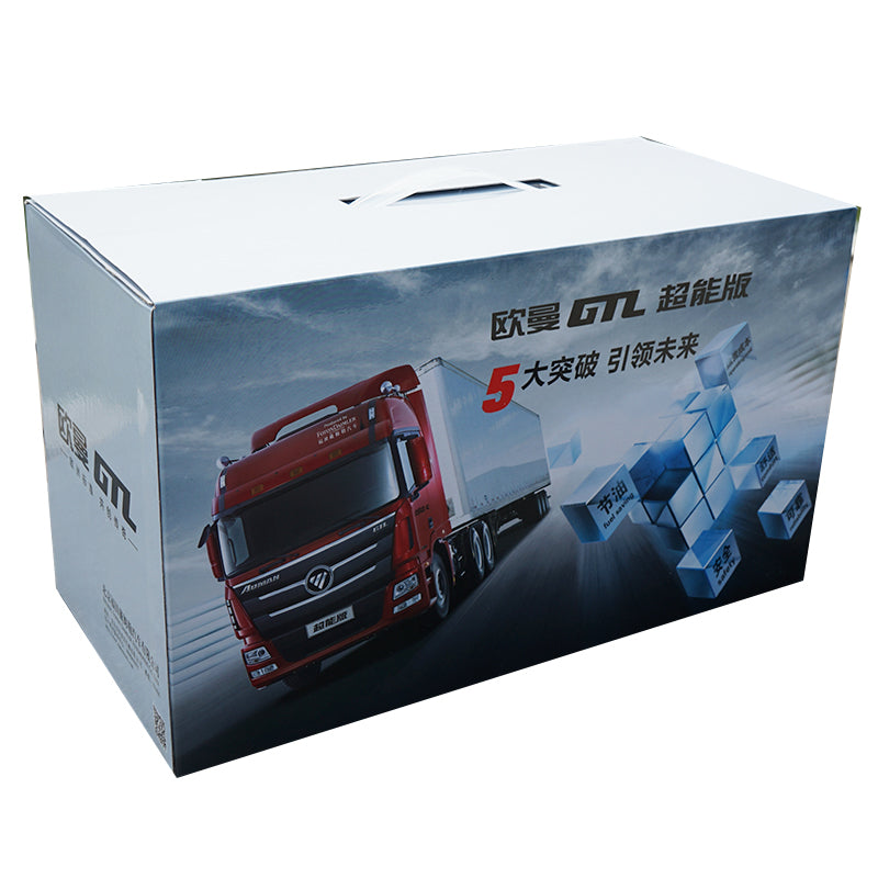 1:24 China Futon auman GTL tractor Daimler super tractor truck model(Blue/Red/white tractor model) with small gift