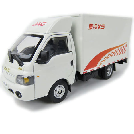 Original factory authentic 1/24 China JAC Kangling X5 Light truck MODEL, metal van truck model with small gift