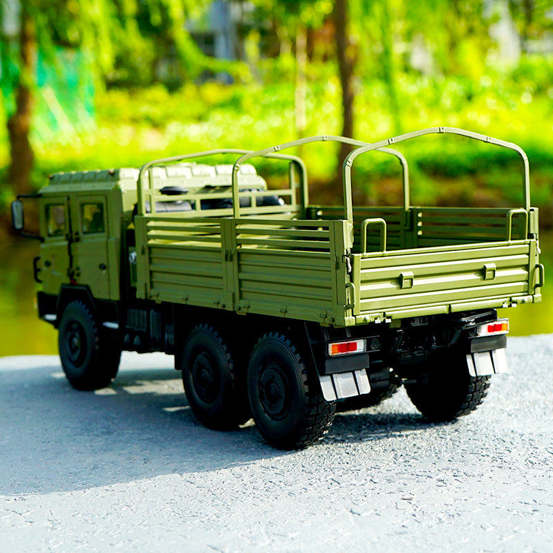 Original factory diecast 1:24 Shanqi Delong SX2220 off-road Army truck model, diecast scale 1:24 military truck model for sale
