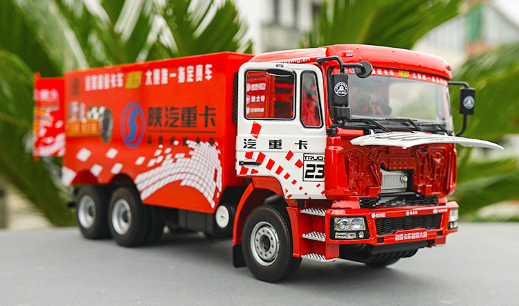 1:24 Shanqi DeLong F3000 Truck Tractor Container Diecast Model for Collection, Diecast SUV heavy truck model