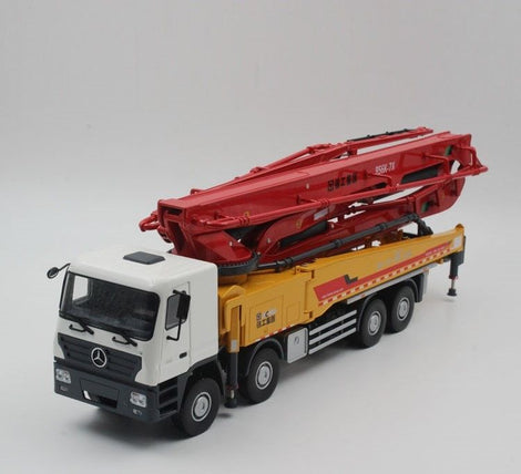 1 35 scale Model XCMG HB56K Concrete 56m Pump Truck, Mercedes-Benz Actros Die Cast Model