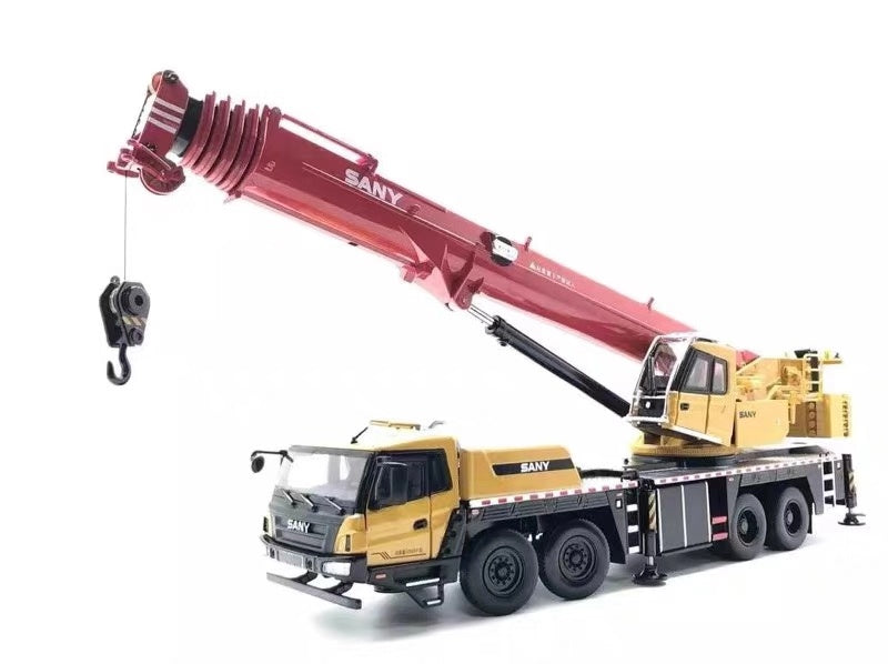 1:36 Large Diecast Sany STC800TS 80ton Truck Crane model, Large sany 80ton truck crane model