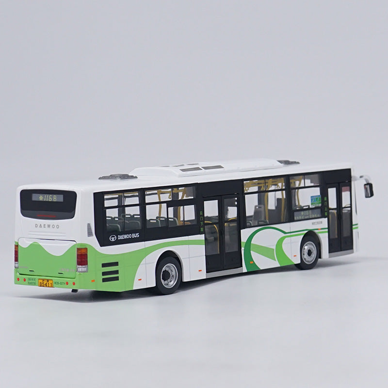 1:43 Shenwin Bus Shanghai Public Bus Die Cast Model with small gift