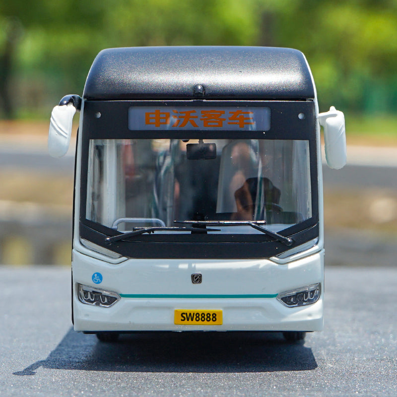 1:50 Shanghai Sunwin Shenwo 9 Series IEV12 pure electric bus model with small gift