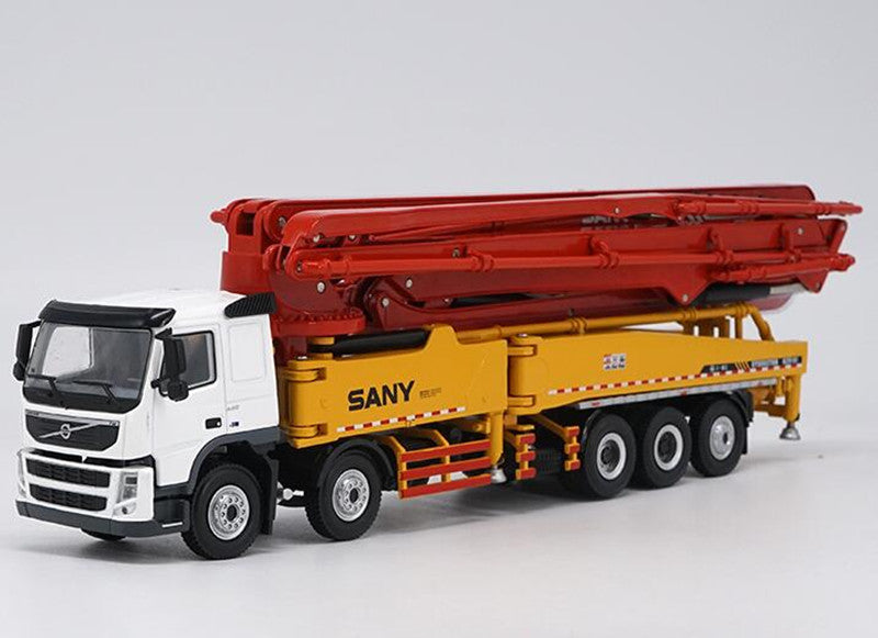 1:50 SANY 62m Concrete Pump truck Volvo Truck Alloy Diecast Toy Model Original
