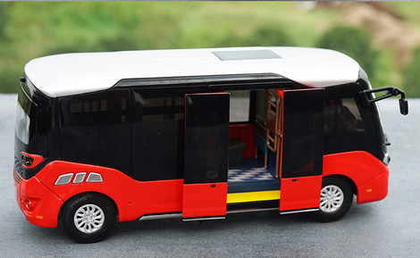 Original factory high quality diecast 1:32 Xiamen golden dragon Xingchen scale bus model for gift, collection