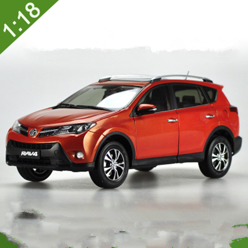 Original Authorized factory 1:18 toyota RAV4 car model, Classic New RAV4 SUV toy car Models for gift, collection
