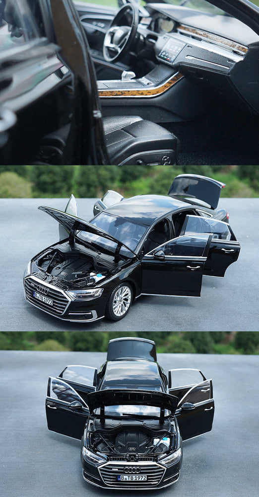 Original factory authentic 1:18 Audi A8L 2017 version Alloy diecast scale toy car model