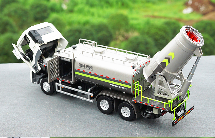 Original factory authentic 1:38 Zoomlion Dongfeng Environmental Dust Suppression truck model, Zoomlion Clean Dust Truck model toy gift