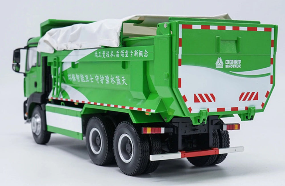 1 24 SITRAK Sinotruk SITRAK  MAN TG-A C6G Howo dump DIECAST MODEL TRUCK green version