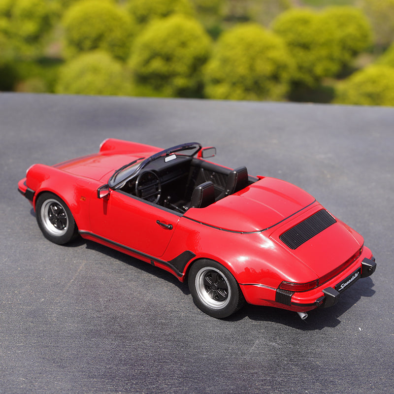 Red/blue 1:18 KK Porsche 911 car model 3.2 Speedster 1989 Diecast alloy vehicle car model for collection