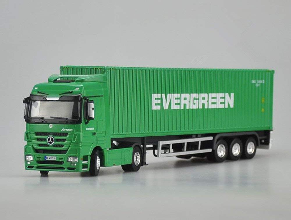 1:50 evergreen Maersk Diecast Mercedes-Benz Container Truck Model