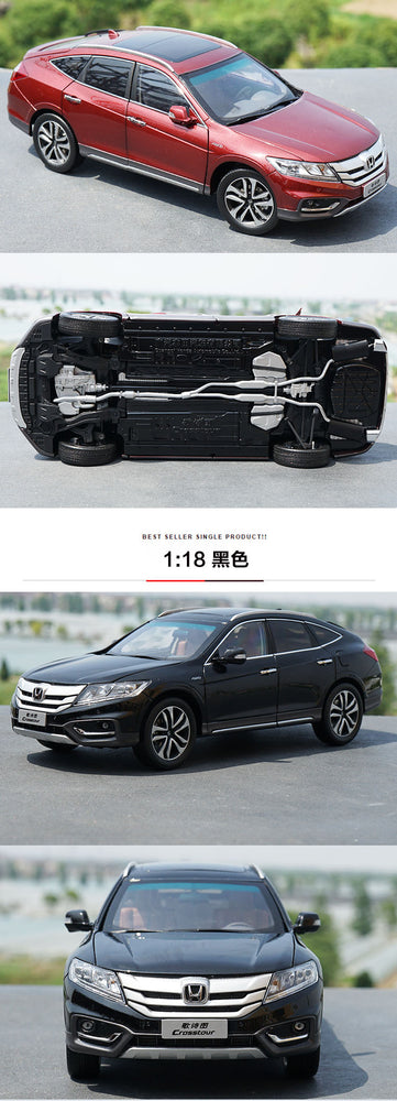 1:18 Diecast Model for Honda Crosstour 2014 Red Sportback Alloy Toy Car Miniature Collection Gifts