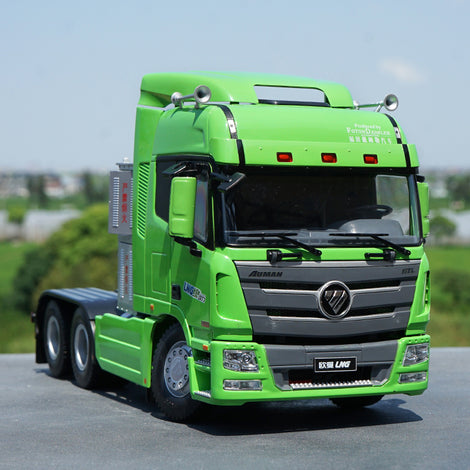 Original factory authentic Foton AUMAN MT Version 1:24 AUMAN GTL LNG semi-trailer tractor alloy scale models for gift, collection