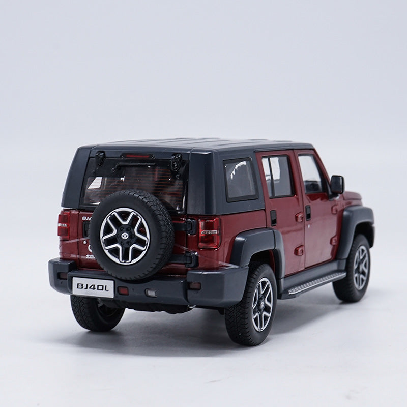 1:18 Scale Beijing Bj40L Red Orv(off-road Vehicle) Diecast Model