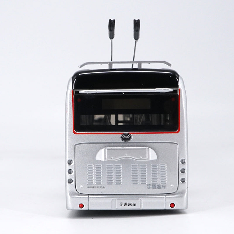 Original Collectible Alloy Model Gift 1:42 Yutong Dual-source Trackless Trolleybus Transit Volume BRT Bus DieCast Toy Model for christmas gift,Collection,Decoration