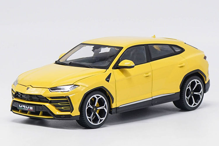 Original factory authentic Bburago 1:18 Lamborghini URUS yellow diecast car model with small gift