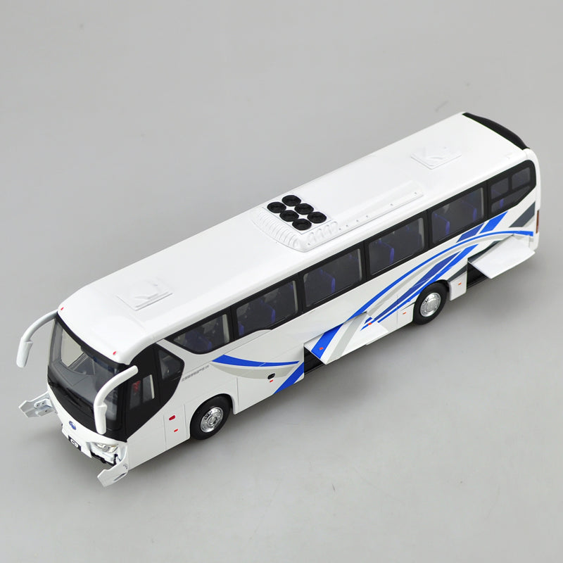 White 1:36 Scale Die-Cast BYD C9 Pure Electric Bus Model