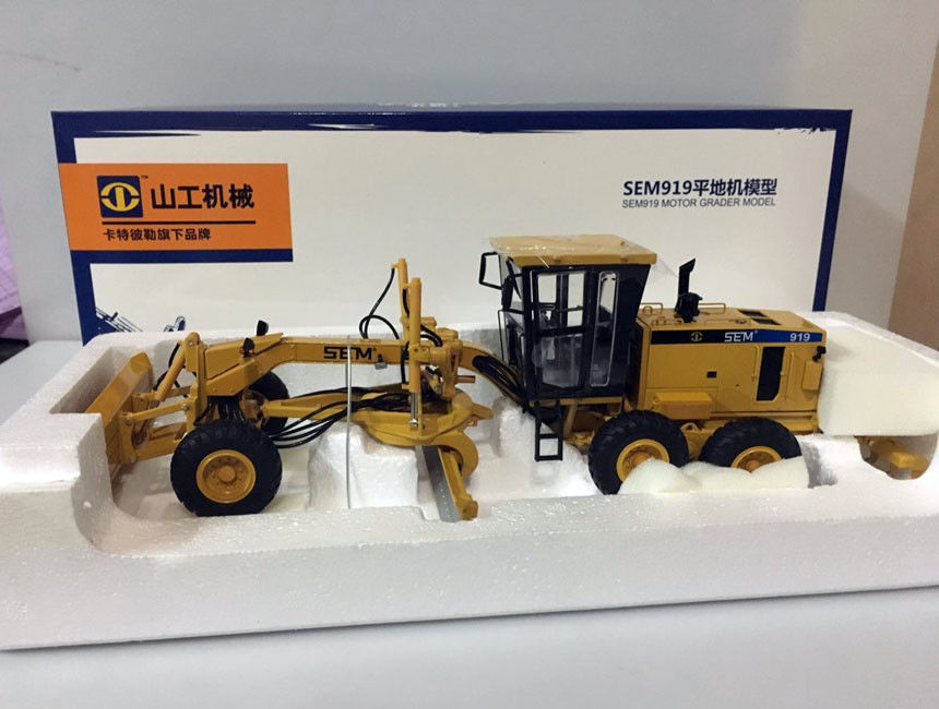 Original factory Diecast 1:35 Cat SG SEM919 motor grader vehicles engineering machinery model for gift, collection,toy