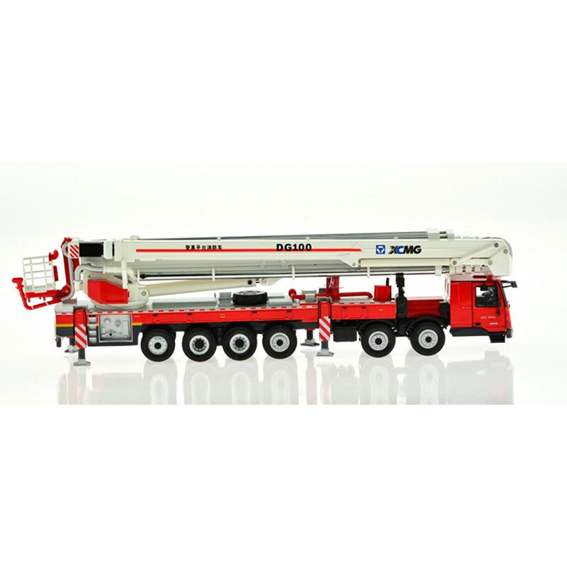 1:50 China XCMG DG100 Aerial Platform Fire Truck Metal model Diecast