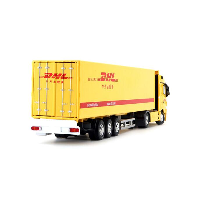 Original Authorized Authentic 1:50 Mercedes-Benz TRUCKS model with container,DHL logistics truck model toy truck Model for Christmas gift