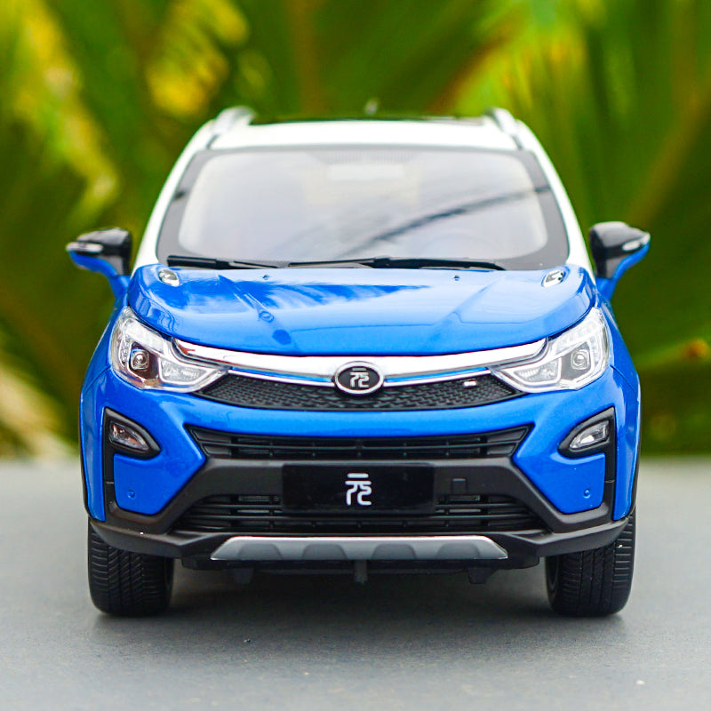 Diecast Car Model BYD Yuan 1:18 (Blue & White) + SMALL GIFT!